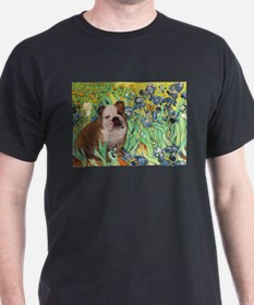 Irises / 2 English Bulldogs T-Shirt
