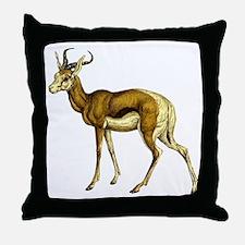 Springbok Antelope Throw Pillow