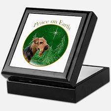 Welsh Terrier Peace Keepsake Box