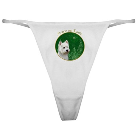 Westie Peace Classic Thong