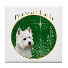 Westie Peace Tile Coaster
