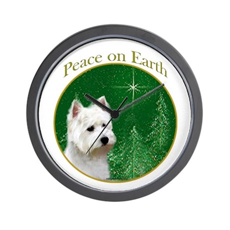 Westie Peace Wall Clock