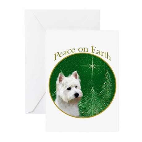 Westie Peace Greeting Cards (Pk of 20)