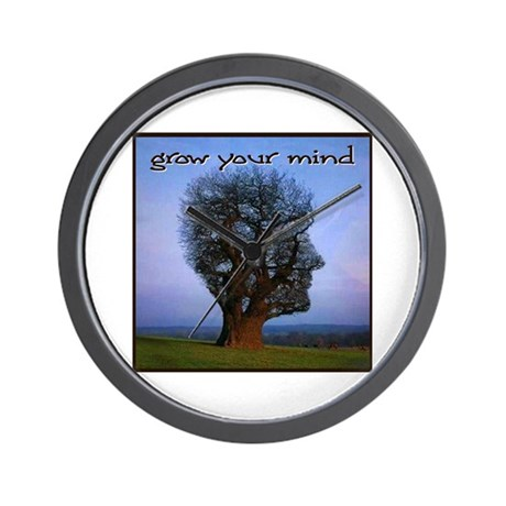 Grow Your Mind Wall Clock