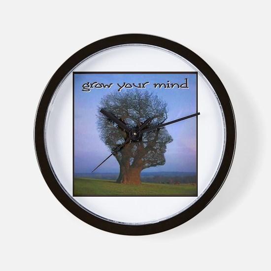 Grow Your Mind Wall Clock