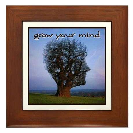 Grow Your Mind Framed Tile