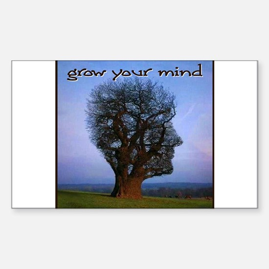 Grow Your Mind Rectangle Bumper Stickers
