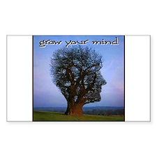 Grow Your Mind Rectangle Decal