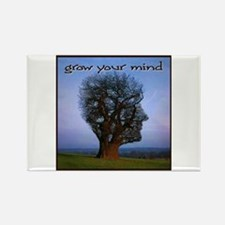 Grow Your Mind Rectangle Magnet (10 pack)