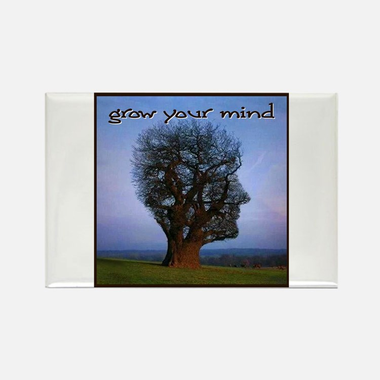 Grow Your Mind Rectangle Magnet