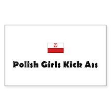 Polish Girls Rectangular Decal