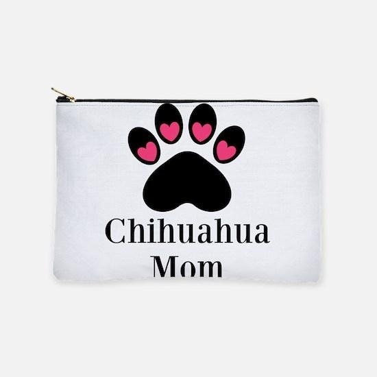 Chihuahua Mom Paw Print Makeup Bag