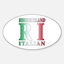 Rhode Island Italian Oval Decal