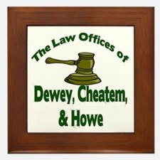 Dewey, cheatem, and howe Framed Tile