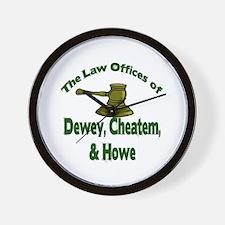 Dewey, cheatem, and howe Wall Clock