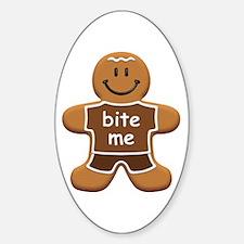'Bite Me' Gingerbread Man Decal