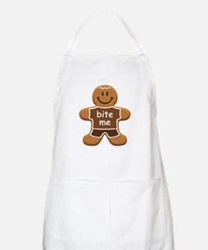 'Bite Me' Gingerbread Man Apron