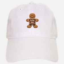 'Bite Me' Gingerbread Man Baseball Baseball Cap