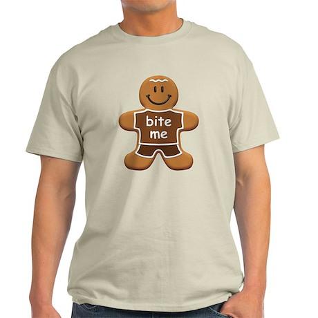 'Bite Me' Gingerbread Man Light T-Shirt