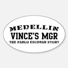Vince's Mgr - Medellin Oval Decal