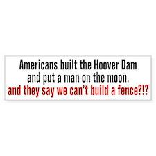 Americans built... Bumper Bumper Sticker