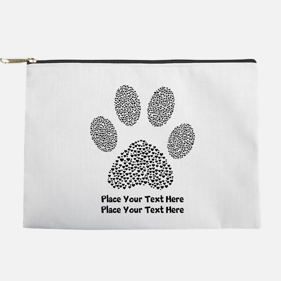 Dog Paw Print Personalized Makeup Bag