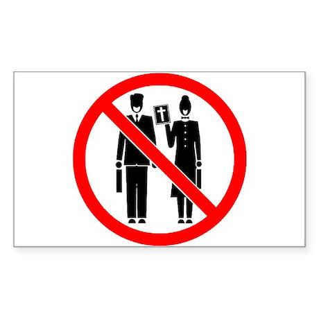 No Preaching Rectangle Sticker