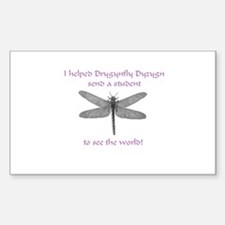 Dragonfly Pride Rectangle Decal