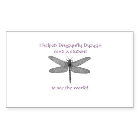 Dragonfly Pride Rectangle Sticker