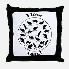 I love rats! Throw Pillow