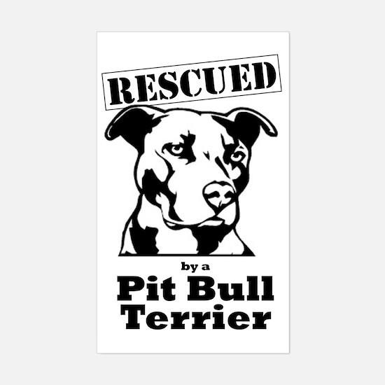 Pit bull rescue Sticker (Rectangle)
