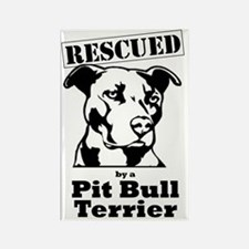 Funny Pit bull rescue Rectangle Magnet