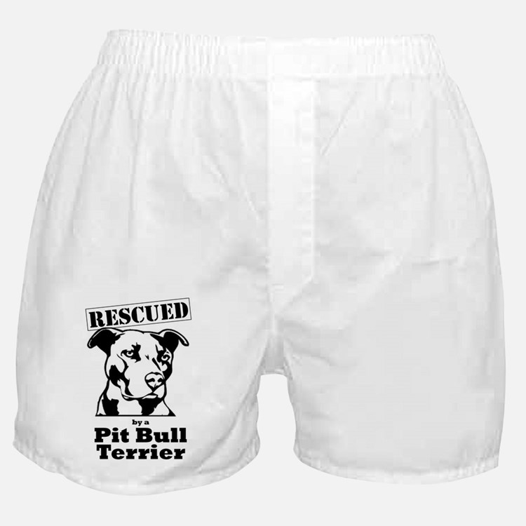 Cute Pit bull rescue Boxer Shorts