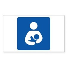 Breastfeeding Symbol Rectangle Decal