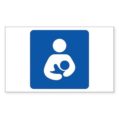 Breastfeeding Symbol Rectangle Sticker