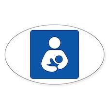 Breastfeeding Symbol Oval Decal