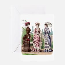 Le Monde Elegant -1881 Greeting Card