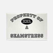 Property of a Seamstress Rectangle Magnet