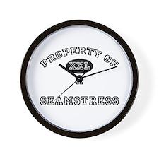Property of a Seamstress Wall Clock