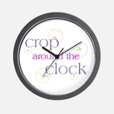 Crop Around the Clock Wall Clock