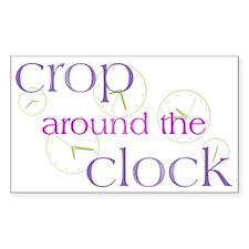 Crop Around the Clock Rectangle Decal