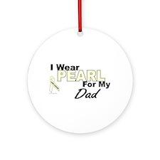 I Wear Pearl 3 (Dad LC) Ornament (Round)