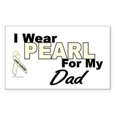 I Wear Pearl 3 (Dad LC) Rectangle Decal