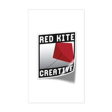 Red Kite Rectangle Decal