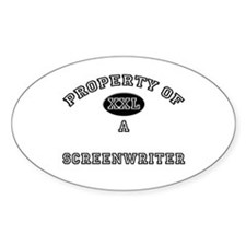 Property of a Screenwriter Oval Decal