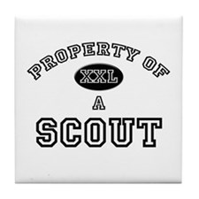 Property of a Scout Tile Coaster