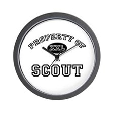 Property of a Scout Wall Clock