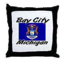 Bay City Michigan Throw Pillow
