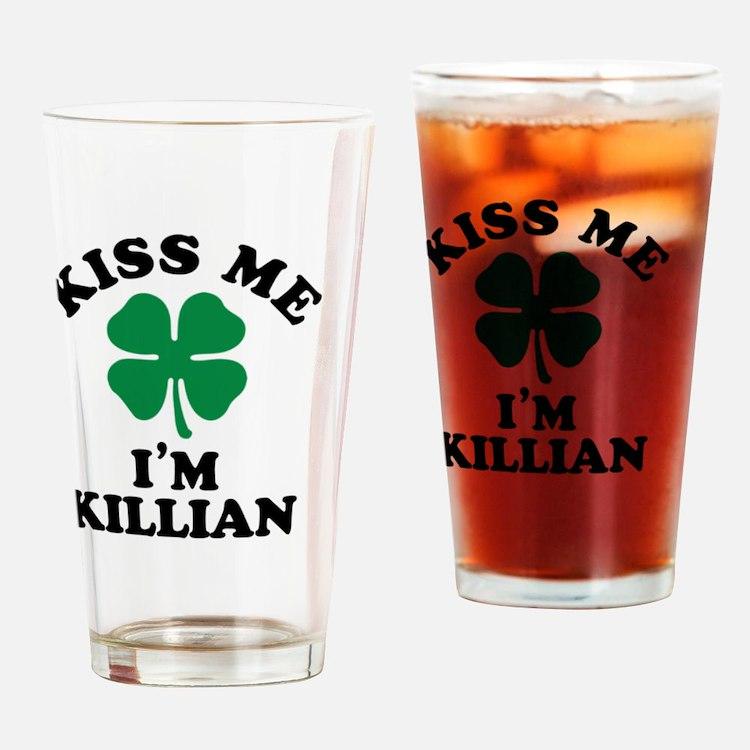 Cute Kiss me Drinking Glass