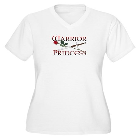 Warrior Princess Women's Plus Size V-Neck T-Shirt
